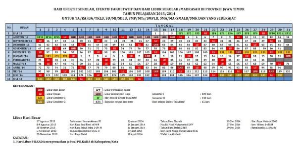 Kalender Pendidikan Th 2013-2014 Jawa Timur