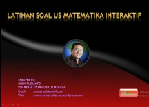 SOAL LATIHAN US MTK INTERAKTIF