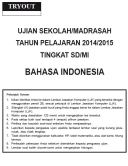 TRYOUT BAHASA INDONESIA